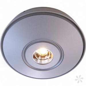 LED Deckenaufbau-/ Wandleuchte aus Aluminium Druckguß, silber