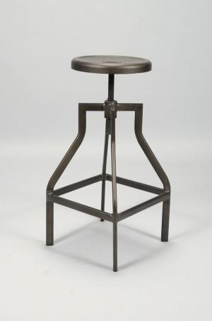 Barhocker Metall Industrie, Hocker Metall Industriedesign, Sitzhöhe 61-79 cm