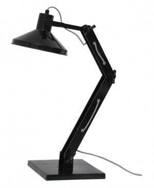 Design Tischleuchte, Tischlampe, Farbe schwarz mit verstellbaren Arm