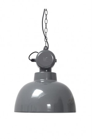 Hängeleuchte Fabrikart L, Pendelleuchte Industriedesign, Farbe grau, Ø 40 cm