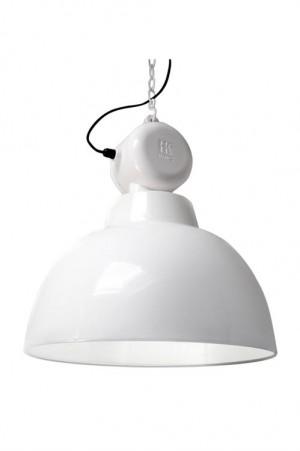 Pendelleuchte Fabrikart, Industriedesign Lampe, Farbe weiß, Ø 50 cm