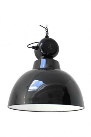 Pendelleuchte Fabrikart, Industriedesign Lampe, Farbe schwarz, Ø 50 cm