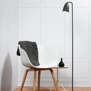 Stehleuchte Metall PVC grau LED