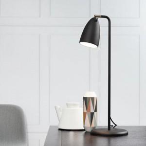 Tischleuchte Metall PVC schwarz LED