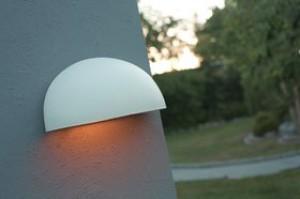 Wandleuchte Metall weiß PVC schlagfestes Material Outdoor
