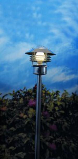 Stehleuchte Metall verzinkt Glas Outdoor 15 Jahre Anti-Rost-Garantie