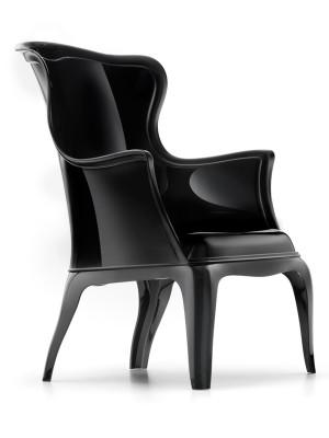 Design Sessel  aus Polykarbonat, Farbe schwarz