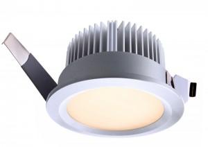 LED Deckeneinbaueuchte aus Aluminium, Glas, weiß, silber, Ø 114cm