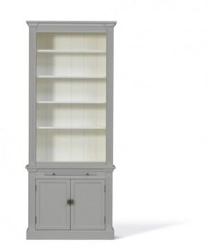 Bücherschrank grau, Bücherschrank Landhausstil, Breite 100 cm