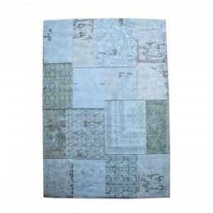 Teppich Patchwork türkis, Größe 170 x 240 cm