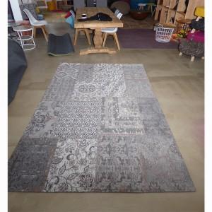 Teppich Patchwork Grau, Größe 200 x 300 cm