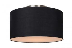 Deckenleuchte aus Metall, Baumwolle schwarz, modern, Ø 35 cm