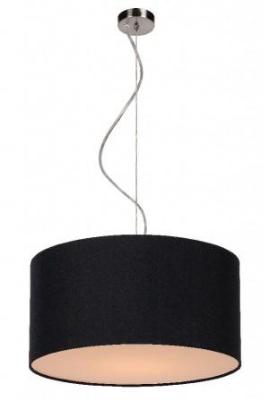 Pendelleuchte aus Metall, Baumwolle schwarz, modern, Ø 40 cm