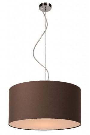 Pendelleuchte aus Metall, Baumwolle braun, modern, Ø 40 cm