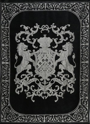 Decke, Plaid, Farbe schwarz-silber, Größe 175 x 235 cm