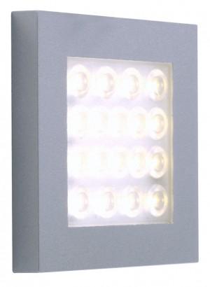 LED Möbelaufbauleuchte aus Aluminium, matt-silber, Edelstahloptik