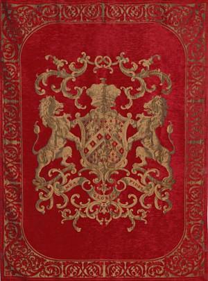 Decke, Plaid, Farbe rot, Größe 175 x 235 cm