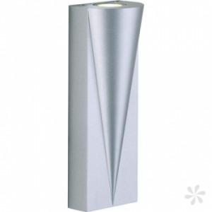 LED Wand - Außenleuchte, Outdoorleuchte Alu Druckguß, Farbe matt-silber
