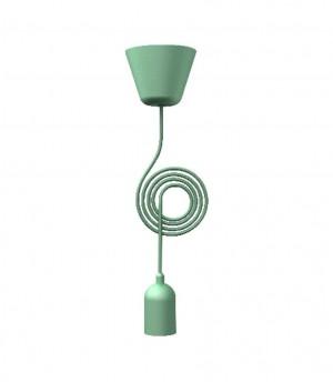 Kabel für eine Pendelleuchte, Farbe grün, Ø 12 cm