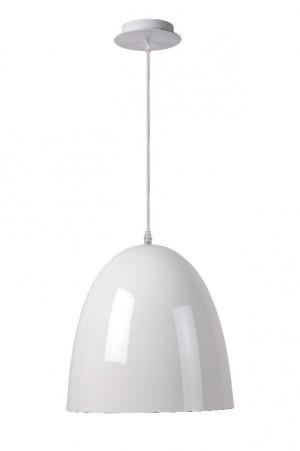 Pendelleuchte aus Stahl in weiß im modernen Stil