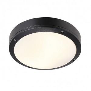 LED Moderne Deckenleuchte, Outdoorleuchte, Farbe schwarz, Ø 22 cm