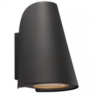 Moderne Outdoorwandleuchte, Farbe schwarz, Ø 12,3 cm