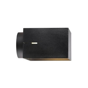 Moderne Outdoorwandleuchte, Farbe schwarz, Ø 18 cm