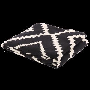 Decke schwarz-weiß, Plaid weiß-schwarz, Größe 55 x 55 cm