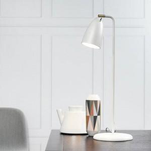 Tischleuchte Metall PVC weiß LED