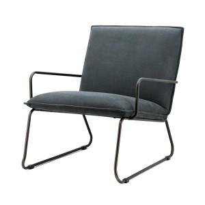 Sessel mit Armlehnen, Sessel Industriedesign in anthrazit
