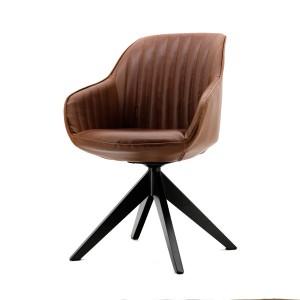 Stuhl mit Armlehne in cognac, modern, Landhausstil