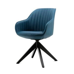 Stuhl mit Armlehne in blau, modern, Landhausstil