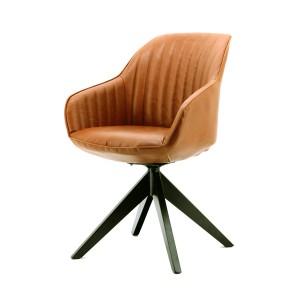 Stuhl mit Armlehne in braun, modern, Landhausstil