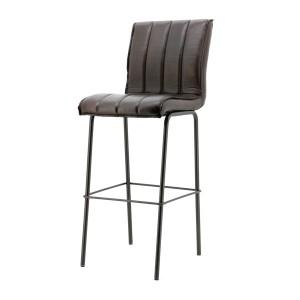 Barhocker gepolstert, Barstuhl dunkelbraun, Sitzhöhe 82 cm