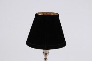 KIemmschirm schwarz, Steckschirm schwarz  Velour für Kronleuchter, Form rund Ø 13 cm