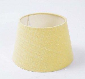 Lampenschirm, Farbe gelb, Form rund Ø 20 cm