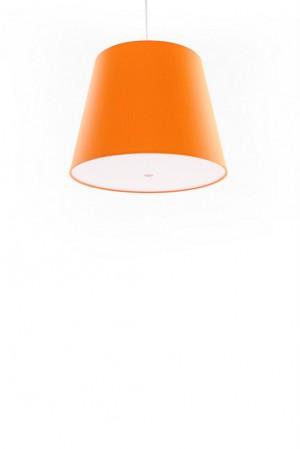 Pendelleuchte, Lampenschirm orange, moderne Pendellampe in sechs verschiedenen Farben, Ø 39 cm