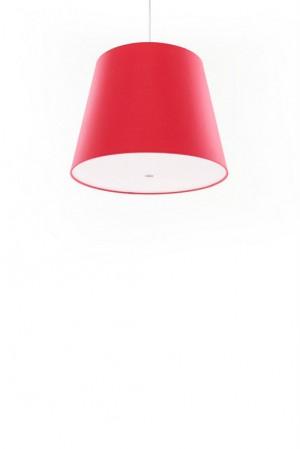Pendelleuchte, Lampenschirm rot, moderne Pendellampe in sechs verschiedenen Farben, Ø 39 cm
