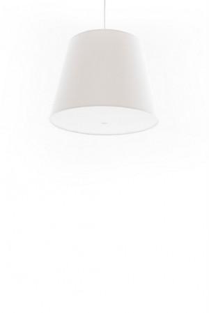 Pendelleuchte, Lampenschirm weiss, moderne Pendellampe in sechs verschiedenen Farben, Ø 39 cm