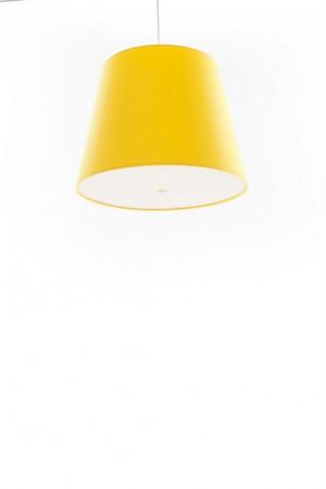 Pendelleuchte, Lampenschirm gelb, moderne Pendellampe in sechs verschiedenen Farben, Ø 39 cm