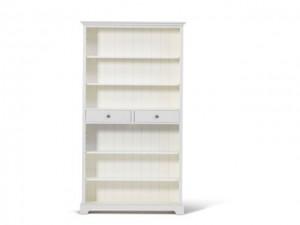 Bücherschrank weiß Massivholz, Bücherregal im Landhausstil, Regal weiß