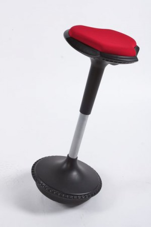 Design Barhocker in schwarz/rot flexibler Sockel