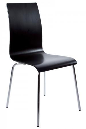Stuhl schwarz verchromt