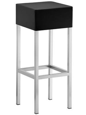 Design Barhocker Schwarz, Tresenhocker gepolstert, Sitzhöhe 80 cm