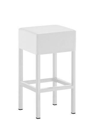 Design Barhocker Weiß, Tresenhocker gepolstert, Sitzhöhe 65 cm