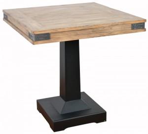 Bistrotisch schwarz Industrie, Tisch braun-schwarz Metall Holz
