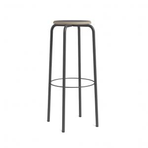 Barstuhl schwarz Metall-Gestell, Barhocker schwarz Metall, Sitzhöhe 80 cm