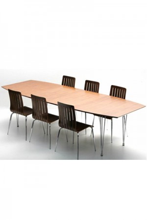 Design Konferenztisch, modern, Stahl, Länge verstellbar.