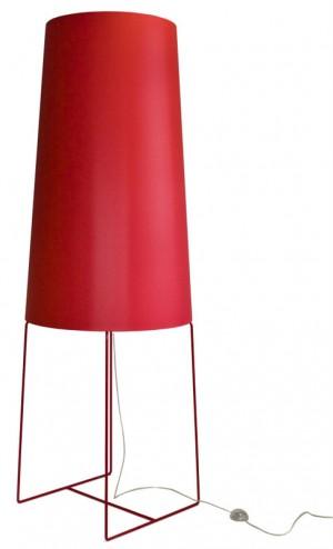XXL Design-Stehleuchte, moderne Stehlampe in fünf  verschiedenen Farben, rot