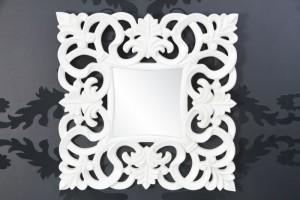 Wandspiegel modern/ Barock, weiß